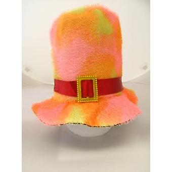 Funky Multi Coloured Topper With Band And Gold Buckle (1)