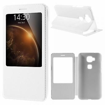 Booktasche window white for Huawei G8 5.5 inch