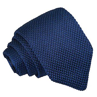 Azul marinho de malha gravata Slim