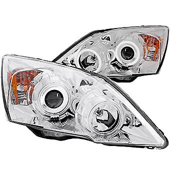 Anzo USA 121224 Honda CR-V Chrome Clear Projector with Halos Headlight Assembly - (Sold in Pairs)