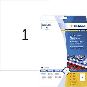 Herma 4698 Labels 210 x 297 mm Polyester film White 25 pc(s) Permanent All-purpose labels, Weatherproof labels