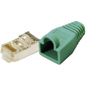 LogiLink MP0013 Plug CAT 5E beschermen gele 8P8C RJ45 stekker, rechte groen
