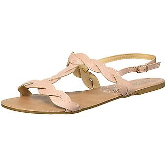 Qupid Women's T-Strap Flat Sandal