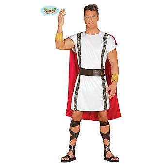 Soldat de centurion romain antique costume de partie de thème de carnaval pour or hommes-blanc-rouge