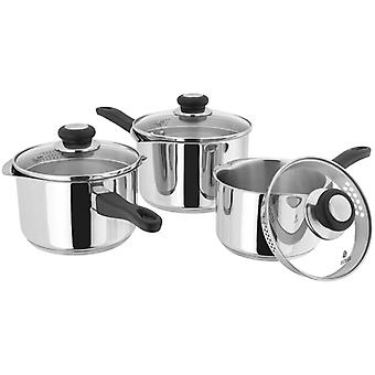 Judge Vista, Draining 3 Piece Saucepan Set