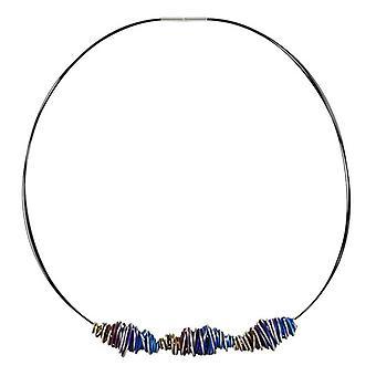 TI2 Titanium dreifach Chaos Twist Anhänger und Halskette - blau