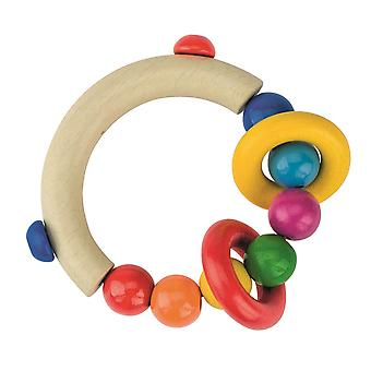 Heimess Touch Ring Rattle Half-Round With Beads and 2 Ring Rattles