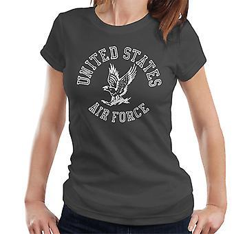 U.S. Airforce Eagle vit Text Women's T-Shirt