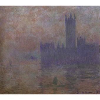 Houses of Parliament, Fog Effect, Claude Monet, 60x50cm