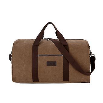 LARGE Brown weekendbag or exercise bag in durable fabric
