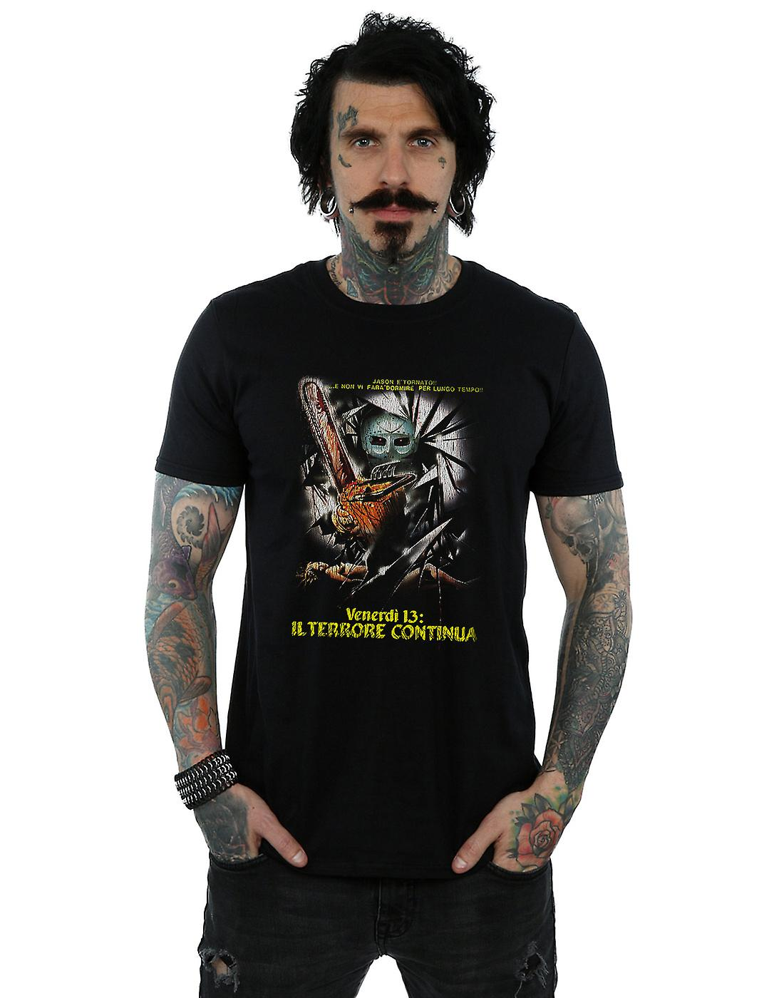 Friday The 13th Men's Italian Movie Poster T-Shirt