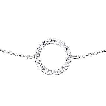 Circle - 925 Sterling Silver Chain Bracelets - W18593X
