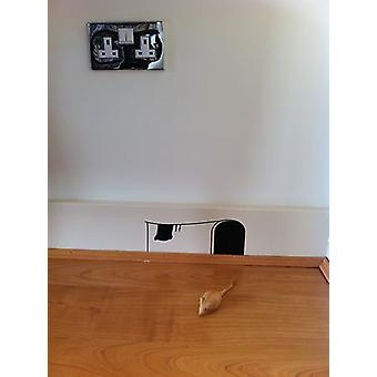 ミッキーの家のマウスの穴壁ステッカー