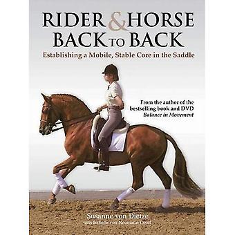 Cavalier et cheval dos à dos: établir un Mobile, Stable Core en selle