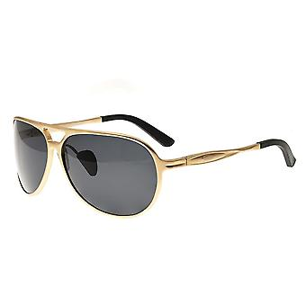 Breed Earhart Aluminium Polarized Sunglasses - Gold/Black