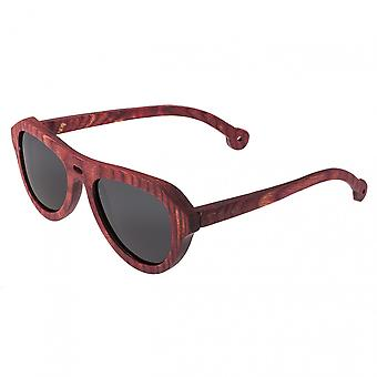Spectrum Keaulana Wood Polarized Sunglasses - Cherry/Black