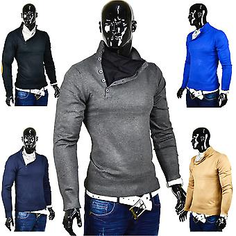 Men's sweater knit shirt stand-up collar Sweater Japan Style Sweat