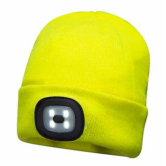 Portwest - Unisex Beanie Thermal Hat With LED Head Light USB Rechargeable
