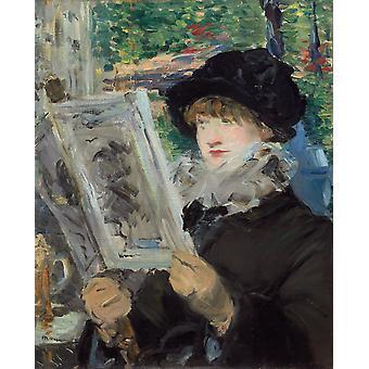 La Lecture de l-Illustre,Edouard Manet,50x40cm