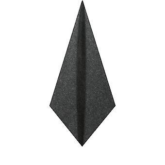 Doball Mens grijs Donegal Tweed zak plein zakdoek wol mix