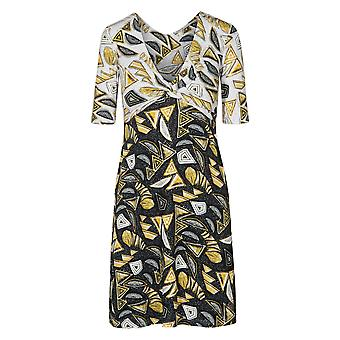Féraud 3195094-10996 Women's Voyage Black Print Beach Dress