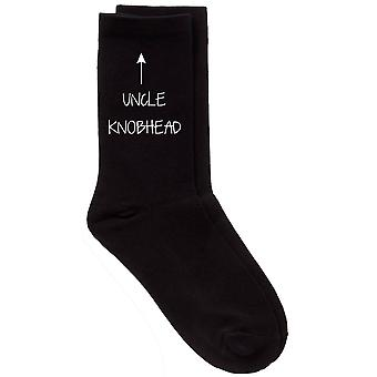 Men's Uncle Knobhead Black Calf Socks
