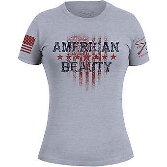 Grunt stile donna American Beauty 2,0 T-shirt-grigio