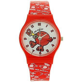 Mr Men & Little Miss, Mr Noisy Red Boys Plastic Strap Watch LM0008