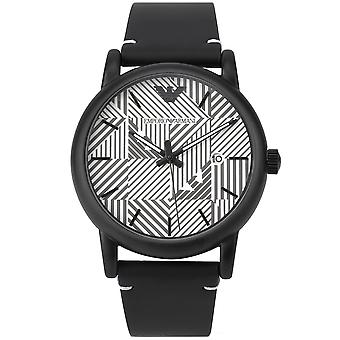 Emporio Armani Ar11136 Black Leather Strap Men's Watch