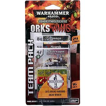 Warhammer 40000 dés Masters Orks WAAAGH! Pack équipe