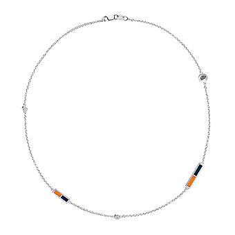 La collana della catena di diamanti dell'Università del Texas El Paso In Sterling Silver Design di BIXLER