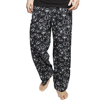 Cyberjammies 6388 Men's Isaac Black Mix Remote Control Print Cotton Pyjama Pant
