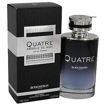 Quatre Absolu De Nuit By Boucheron Eau De Parfum Spray 3.3 Oz (men) V728-540742