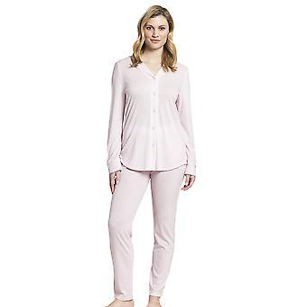 Rösch 1193722-14706 Kvinner's Ren rosa minimal trykte bomull pyjamas bukse