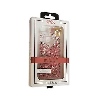 Case-mate Waterfall Liquid Glitter Case for Google Pixel 2 - Rose Gold