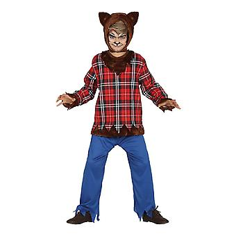 Childrens Halloween Scottish Wolf Boy Fancy Dress Costume