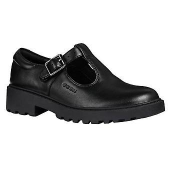 Geox Девушки J Кейси G. E Кожашкола обуви