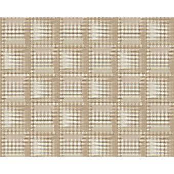 A.S. criação como criação Praça padrão 3D Stripe efeito texturizado não tecido papel de parede 961801