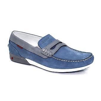 Grisport Mens Basalt Blue Boat Shoe