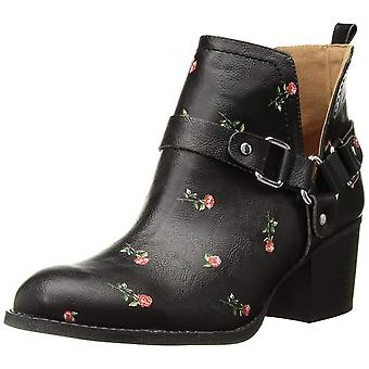 Madden Girl Womens FINIANBLACK MULTI Almond Toe Ankle Fashion Boots