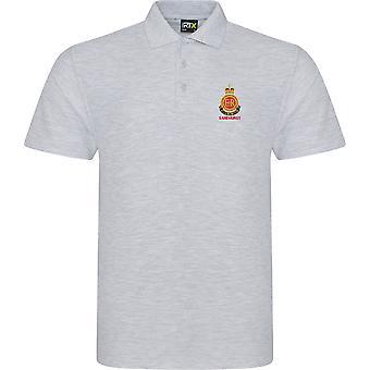 RMAS Royal Military Academy Sandhurst navn-lisensiert britiske hæren brodert RTX Polo