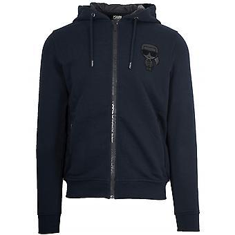 Lagerfeld Navy Hooded Sweatshirt