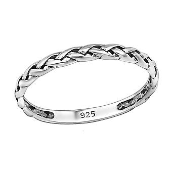 مضفر - 925 الجنيه الاسترليني خواتم عادي الفضة - W30344X