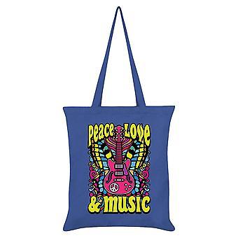 Grindstore Peace, Love & Music Tote Bag