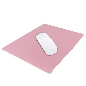 TRIXES Aluminium Mouse Mat Non-Slip Metal Pad - 22 x 18cm Rose Gold Pink Colour