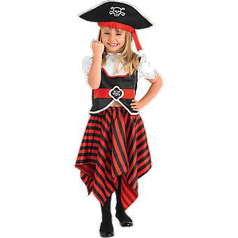Girls Age 3 - 8 Years Pirate Costume Fancy Dress