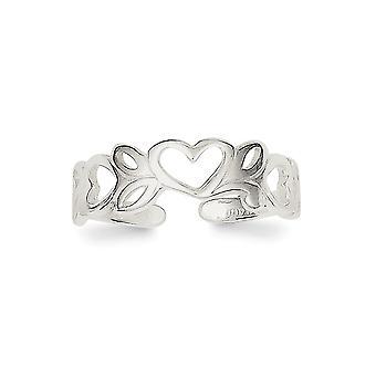 925 ασημένια στερεά γυαλισμένα δώρα κοσμήματος δαχτυλιδιών toe για τις γυναίκες