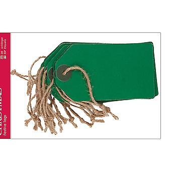 20 grandes étiquettes kraft vertes pour l'artisanat d'enveloppe de cadeau