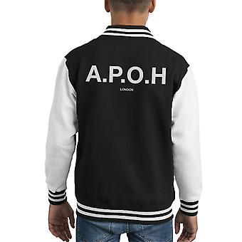 A.P.O.H Classic White Logo Kid's Varsity Jacket