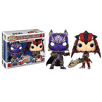 Marvel v Capcom Inf Black Panther & Monster Hunter Pop 2Pk 1